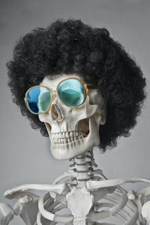 Paryk på skelet
